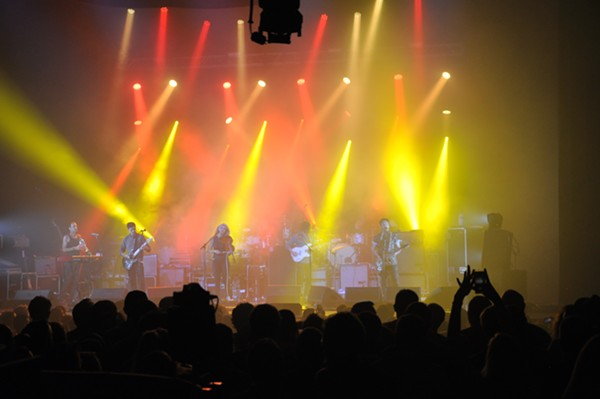 Modest Mouse, performing at the Pageant last night. - MEGAN BRYDEN WASOBA