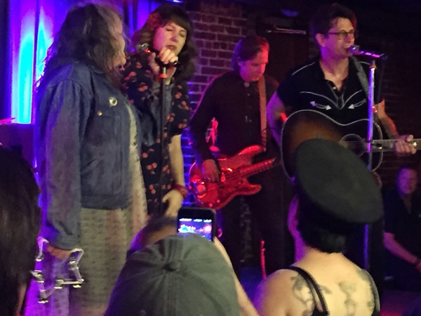 Members of X join Dead Rock West onstage. - JEREMY ESSIG
