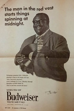 Chears was so popular in his time he was even featured in ads for Budweiser.