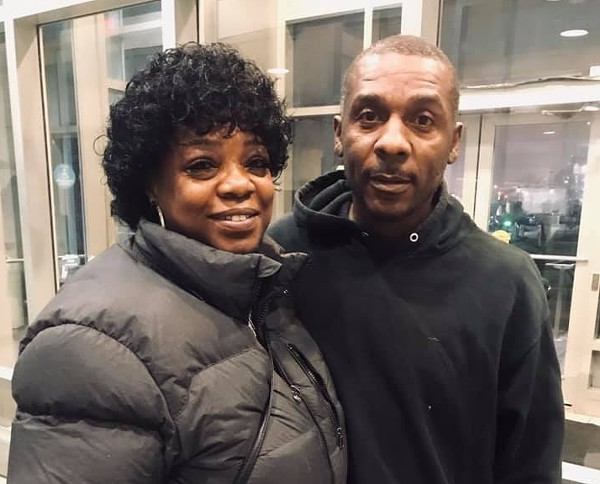 David Dixon, right, with longtime friend Patricia Swinney, was bailed out of St. Louis' Workhouse Tuesday evening — but it wasn't easy. - COURTESY OF ARCHCITY DEFENDERS