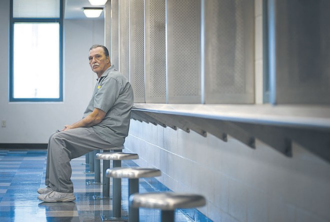 Jeff Mizanskey, photographed at the Jefferson City Correctional Center in 2013. - KHOLOOD EID