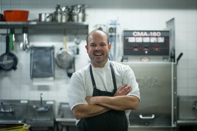 Chef Aaron Martinez of Elaia had plans to become a firefighter before leaving them behind for the kitchen. - JEN WEST