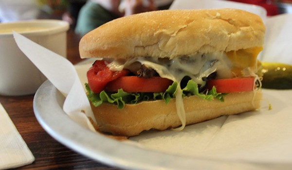 The veggie melt at Nora's. - PHOTO BY LAUREN MILFORD