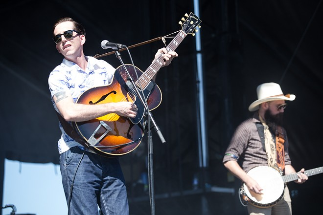 Pokey LaFarge, one of three St. Louis-based acts that performed at this year's fest. - ROBERT ROHE