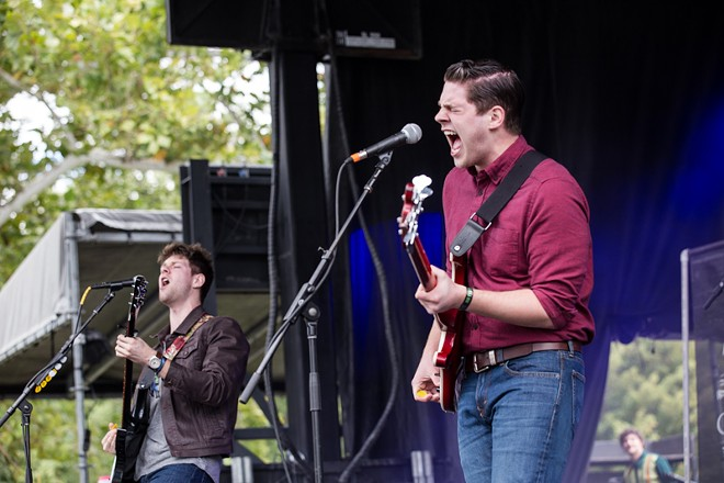 Clockwork performing on the Shade Stage on Saturday. - ROBERT ROHE