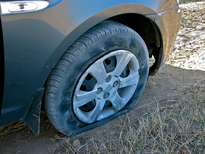 A flat tire did not stop a carjacker in north St. Louis, police say. - COURTESY FLICKR/S KAYA