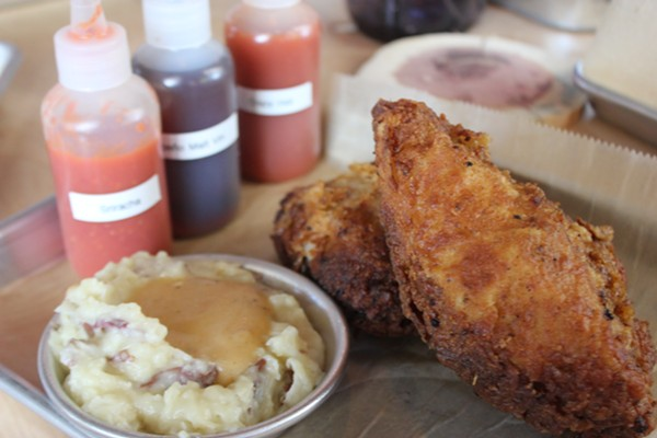 Byrd & Barrel's fried chicken is brined and cooked in a pressure fryer. - CHERYL BAEHR