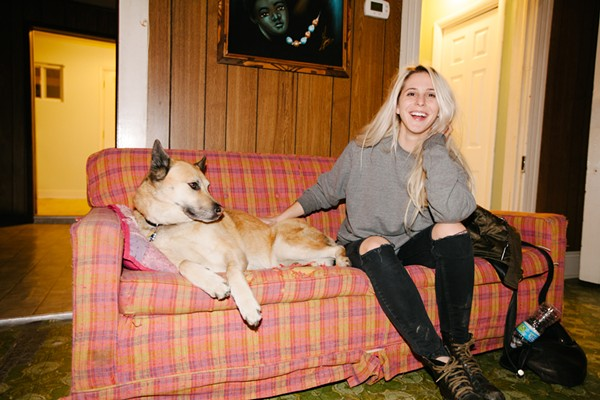 Alicia Bognanno with a furry friend. - PHOTO BY DANIEL TOPETE