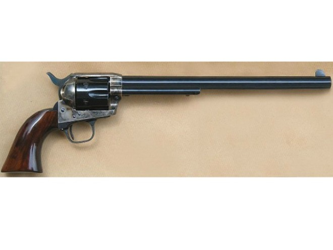 An audit of Gasconade Sheriff's Office revealed a bill for a replica (similar to this one) of Wyatt Earp's revolver. - COURTESY RICCE/WIKI COMMONS