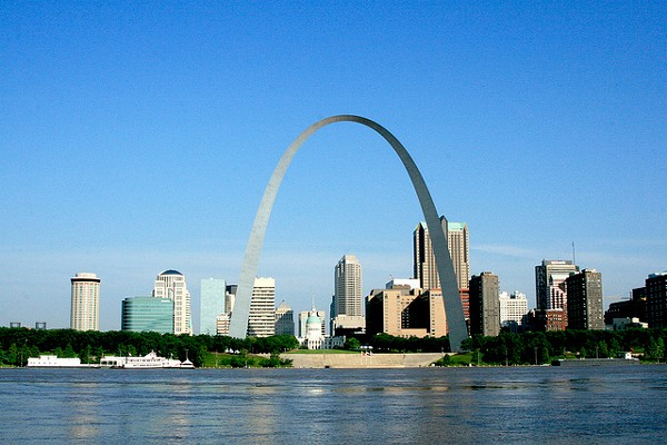 St. Louis: so pretty, and yet so filled with homicides. - PHOTO COURTESY OF FLICKR/JEFFERSON NATIONAL EXPANSION MEMORIAL, NPS