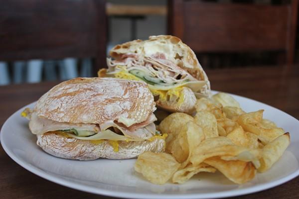 Roasted pork sandwich. - CHERYL BAEHR