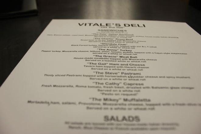 Vitale's Deli is now open in Glendale. - CHERYL BAEHR