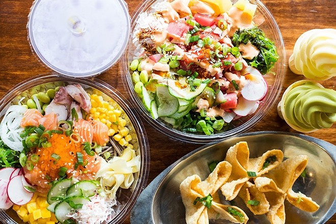 Poke bowls, Crab Rangoons and soft-serve ice cream. - MABEL SUEN