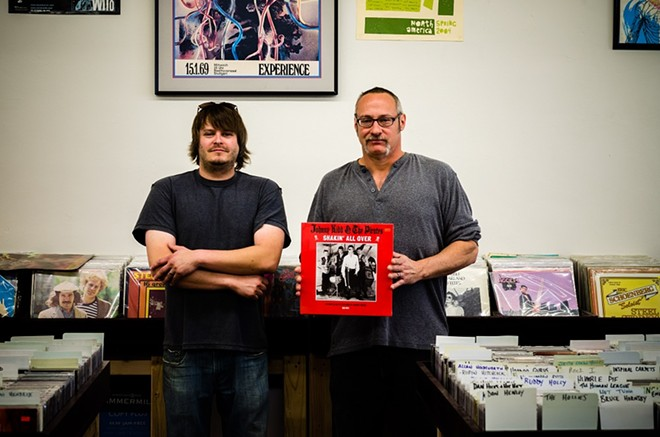 Joe Stulce and Tim Lohmann, owners of Planet Score. - AARON DAVIDOFF