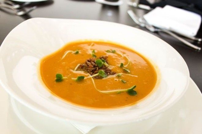 MAPLE SWEET POTATO SOUP AT BIXBY'S | COURTESY OF BIXBY'S
