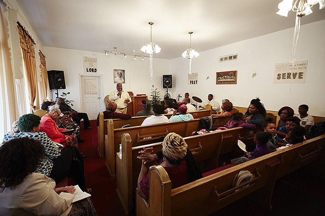 Bethel Non Denominational Church in Jennings was the first house of worship hit in a string of arsons. - STEVE TRUESDELL