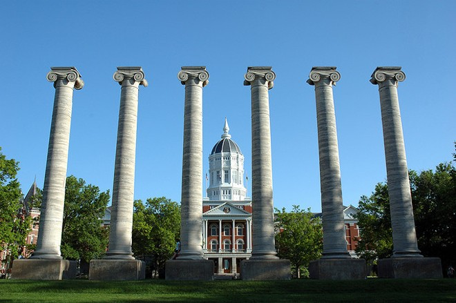 Missouri student protesters took down the university systems president and chancellor in a stunning power play. - IMAGE VIA FLICKR/ADAM PROCTER