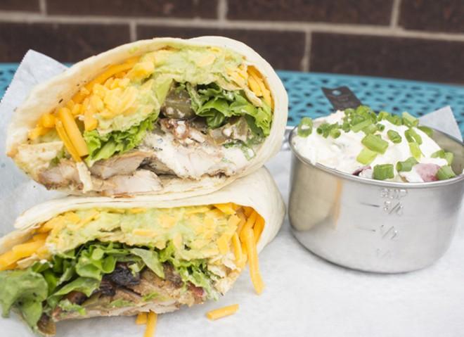 The chicken-fajita-ranch wrap. - MABEL SUEN