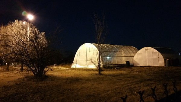 The farm at night. - PHOTO COURTESY OF GOOD LIFE GROWING