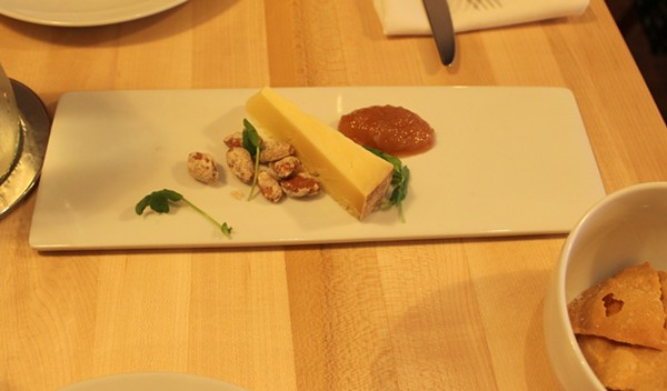 A cheese plate with Flory's Truckle cheese. - PHOTO BY LAUREN MILFORD
