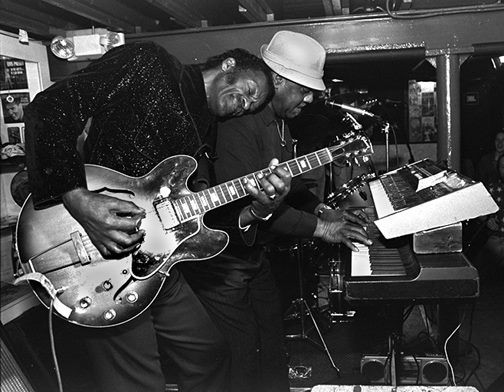 Chuck Berry and Johnnie Johnson, performing together in 1994 at Blueberry Hill. - PHOTO BY MICHAEL DEFILIPPO