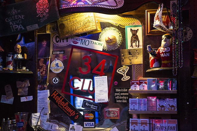 """""""Most of it is just crap and cobwebs,"""" bar manager Mike Mullen says of the trinkets the bar has collected over the years. - ERIC FRAZIER"""