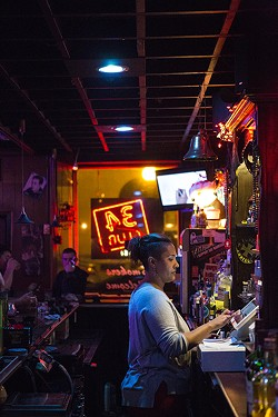 Lynn Rinker is the 34 Club's newest bartender. - ERIC FRAZIER