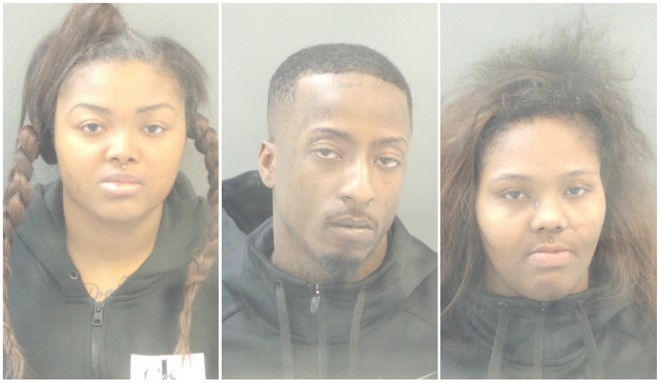 From L: Mekayla Thomas, Dujuan Sumpter and Shay Bowers face felony charges. - COURTESY ST. LOUIS CORRECTIONS