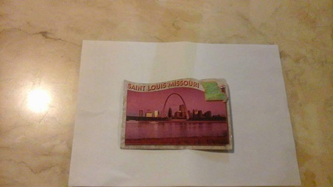 The actual St. Louis postcard. - COURTESY OF COLIN DOHERTY
