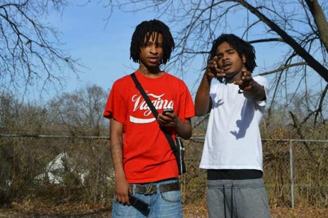 Swagg Huncho (left) was killed on Sunday, just seven months after he and Lil Tay were featured in the Riverfront Times. - PHOTO BY BEN WESTHOFF