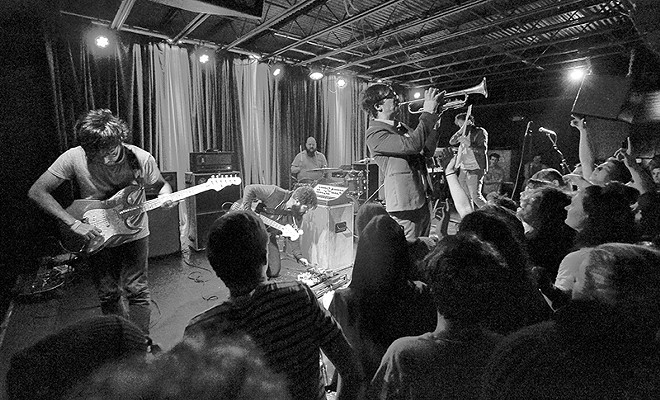 Foxing performed a sold-out show at the Firebird to celebrate the release of its latest, Dealer, in mid-December. - PHOTO BY THEO WELLING