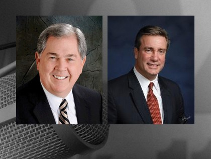 Edward Griesedieck (right) and former Missouri governor Roger Wilson were indicted together in 2012. - KMOX