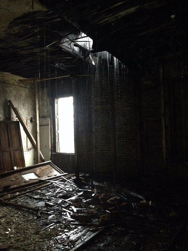 A view of the Clemens house in late December, taken by an urban explorer. - COURTESY OF BILL HANNEGAN