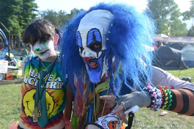 """Juggalos! Boats! One giant Faygo lake. What could go wrong? - PHOTO BY NATE """"IGOR"""" SMITH"""