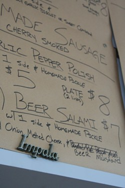The current menu includes house-made beer salami - CHRIS CLERMONT