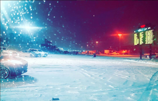 "Words of wisdom from this Insta user at Lambert last night: ""Always check the forecast when you agree to pick someone up from the airport a week in advance."" - INSTAGRAM / WESTER_BRAD"