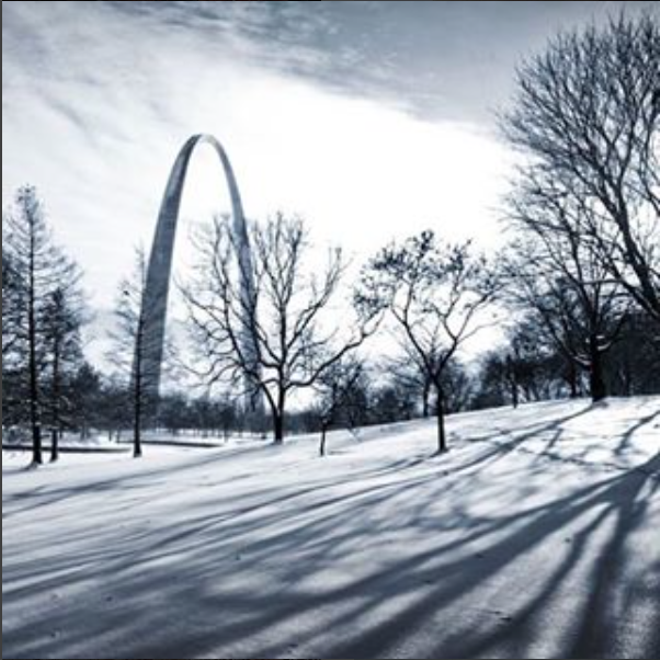 And of course, we can't forget one of your favorite St. Louis landmarks, complete with a blanket of snow. - INSTAGRAM / SLPS_INFO