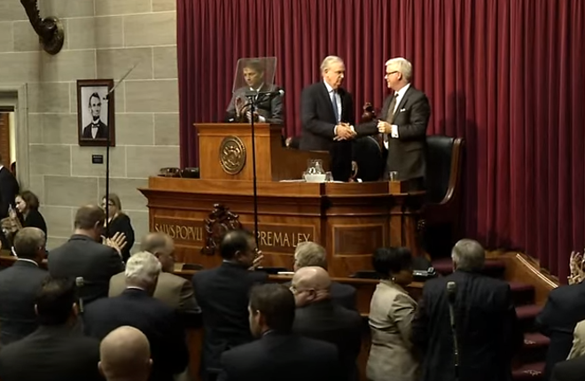 On the bright side, at least we'll never have to endure another Jay Nixon State of the State speech. - YOUTUBE