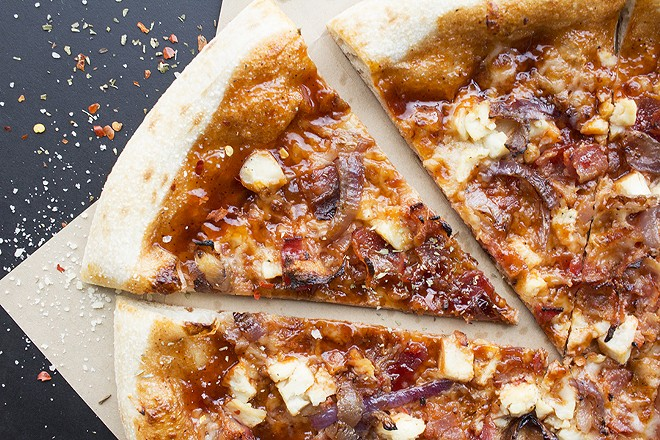 The Bae-B-Que, despite its woeful name, is a surprisingly tasty pie. - PHOTO BY MABEL SUEN