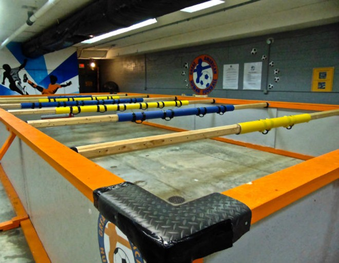The court at Great American Human Foosball. - EMILY HIGGINBOTHAM