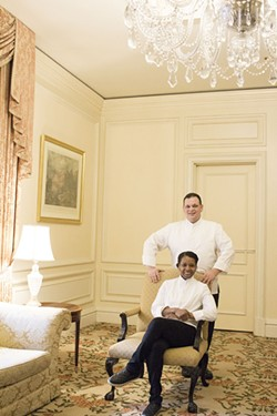 "Though they met on the job, Simone and Damien now work together only for one-off events, like a grand ""Soiree d'Amour"" scheduled for the Ritz-Carlton St. Louis on Feb. 14 - PHOTO BY MABEL SUEN"