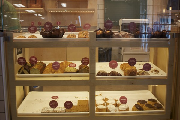 The pastry case is filled with sweet goodies. - CHERYL BAEHR