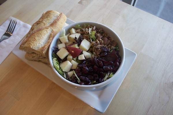 """The """"Frenchie"""" sandwich paired with a """"Harvest"""" salad. - CHERYL BAEHR"""