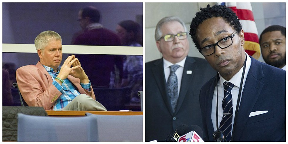 Jeff Roorda, left, is the perfect foil for a reformer like Wesley Bell.