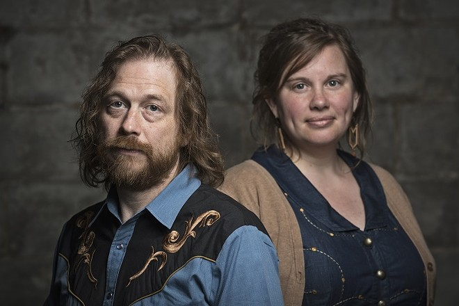 Kelly Wells and Ryan Spearman, a.k.a. the Aching Hearts - PHOTO VIA THE BAND