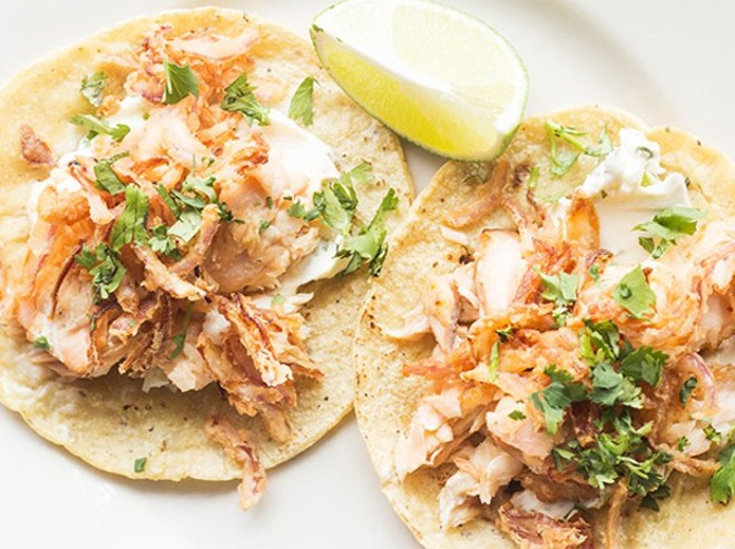 """Pescado blanco"" tacos from Público - PHOTO BY MABEL SUEN"