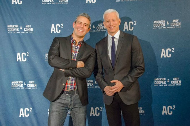 Andy Cohen and Anderson Cooper are bring deep talks and shallow tales to the Fabulous Fox on Oct. 15. - PHOTO COURTESY OF GLENN KULBAKO