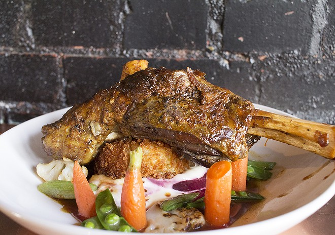 The lamb shank at Copper Pig. - PHOTO BY MABEL SUEN