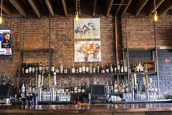 The bar at Copper Pig. - PHOTO BY MABEL SUEN