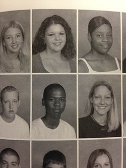 Juan Thompson, center, shown in the yearbook at Mehlville High School.